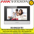 Hikvision - KH6 Series IP-Based Indoor Station, 7-inch Colorful Touch Screen With Resolution 1024 × 600, Standard PoE - DS-KH6320-TE1