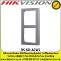 Hikvision - Double Wall Mounting Bracket For Modular Door Station, Adapts To Two-Module Surface Mounting - DS-KD-ACW2