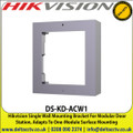 Hikvision - Single Wall Mounting Bracket For Modular Door Station, Adapts To One-Module Surface Mounting - DS-KD-ACW1