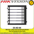 Hikvision - Video Intercom Nametag Module, Dial The Resident At One-Touch - DS-KD-KK