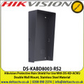 Hikvision - Protective Rain Shield For Use With DS-KD-ACW2 Double Wall Mount, Stainless Steel Material - DS-KABD8003-RS2