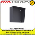 Hikvision - Protective Rain Shield For Use With DS-KD-ACW1 Single Wall Mount, Stainless Steel Material - DS-KABD8003-RS1