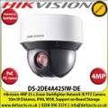 """Hikvision 4MP 4"""" DarkFighter IR PoE IP Network Speed Dome Mini PTZ Camera, 25 x Optical Zoom, 16 x Digital Zoom, 50m IR Distance, IP66 Weatherproof, WDR, H.265+, Built-in micro SD/SDHC/SDXC Card Slot - DS-2DE4A425IW-DE"""