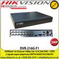 HiWatch - 16 Channel 2MP 1080P HD-TVI/AHD/CVI/CVBS Digital Video Recorder - DVR-216G-F1