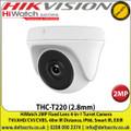 HiWatch - 2MP 2.8mm Fixed Lens 4-in-1 Turret Camera, Switchable TVI/AHD/CVI/CVBS, 40m IR Distance, IP66 Weatherproof, Smart IR, EXIR -THC-T220