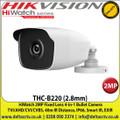 HiWatch - 2MP 2.8mm Fixed Lens 4-in-1 Bullet Camera, Switchable TVI/AHD/CVI/CVBS, 40m IR Distance, IP66 Weatherproof, Smart IR, EXIR -THC-B220