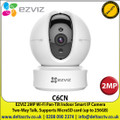 EZVIZ - 2MP Wi-Fi Pan-Tilt Indoor Smart IP Camera, 1080p Full HD, Smart Tracking, Privacy Shutter, Two-Way talk, Supports MicroSD Cards ( Up to 256GB) - C6CN