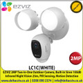 EZVIZ - 2MP Two-in-One Outdoor Camera, Dual Lights, PIR Sensing & Motion Detection, Starlight Standard Sensor, Two-Way Talk, Supports MicroSD cards up to 256GB - LC1C(WHITE)