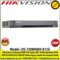 Hikvision DS-7208HQHI-K1(S) 8 Channel 2MP Audio Via Coaxial Cable DVR, HDTVI/AHD/CVI/CVBS/IP Video Input, 1 SATA Interface, H.265 Pro+/H.265 Pro/H.265 Video Compression