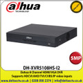 Dahua - 8 Channel 5MP DVR, Supports HDCVI/AHD/TVI/CVBS/IP Video Inputs, 1 SATA Interface, 10TB HDD Capacity, H.265+/H.265 Dual-Stream Video Compression ,HDMI, VGA - DH-XVR5108HS-I2