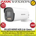 Hikvision - 2MP 2.8-12mm Motorized Varifocal Lens PoC ColorVu BulletCamera,  1 HD Analog Output, 40m White Light Distance, IP68 Weatherproof, WDR, 24/7 Full Color Imaging - DS-2CE19DF8T-AZE (2.8-12mm)