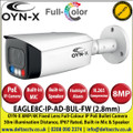 OYN-X 8MP/4K 2.8mm Fixed Lens Full-Colour IP PoE Network CCTV Bullet Camera, 30m Illumination Distance, IP67,  Built-in Mic & Speaker, AI Deterrence, Red and Blue Flashlight Alarm, Support Micro SD Card, 24/7 Colour Imaging - EAGLE8C-IP-AD-BUL-FW