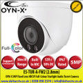 OYN-X - 5MP 2.8mm Fixed Lens Full-Colour HDCVI IR Turret Camera, CVI/CVBS/AHD/TVI Switchable By Dip Cable, 50m White Light Distance, IP67,  Built-in mic, 24/7 Colour Imaging - E5-TUR-A-FW2
