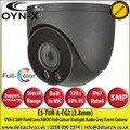 OYN-X - 5MP 2.8mm Fixed Lens Full-Colour HDCVI IR Grey Turret Camera, CVI/CVBS/AHD/TVI Switchable By Dip Cable, 50m White Light Distance, IP67,  Built-in mic, 24/7 Colour Imaging - E5-TUR-A-FG2