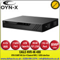 OYN-X 8MP/4K Lite 4 Channel NVR, 1 SATA Port, up to 6TB capacity for each HDD - EAGLE-NVR-4K-4BB