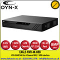 OYN-X 8MP/4K Lite 8 Channel NVR, 1 SATA Port, up to 6TB capacity for each HDD - EAGLE-NVR-4K-8BB