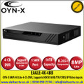 OYN-X 8MP/4K Lite 4 Channel DVR, Supports HDCVI/AHD/TVI/CVBS/IP Video Inputs, 1 SATA Port, up to 10TB Capacity, H.265 Video Compression - EAGLE-4K-4BB