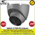 OYN-X - 2MP 2.8mm Fixed Lens HD-CVI Grey CCTV Turret Camera, CVI/CVBS/AHD/TVI switchable, 30m IR Distance, IP67 - EAGLE-2-TUR-FG