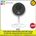 EZVIZ - 2MP HD Resolution Indoor Wi-Fi Camera, 1080p Full HD, 130º Wide-Angle Lens, Two-Way talk, Infrared Night Vision (up to 12 meters) - C1C