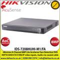 Hikvision - 8 Channel 8MP Lite AcuSense Turbo 5.0 Face Detection DVR, HDTVI/AHD/CVI/CVBS/IP Video Inputs, 1 SATA Interface, 10TB HDD Capacity, H.265 Pro+/H.265 Pro/H.265 Video Compression, Audio Via Coaxial Cable - (IDS-7208HUHI-M1/FA)