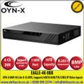 OYN-X EAGLE-4K-8BB 8MP/4K Lite 8 Channel DVR, Supports HDCVI/AHD/TVI/CVBS/IP Video Inputs, 1 SATA Port, up to 10TB Capacity, H.265 Video Compression
