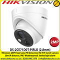Hikvision 2 MegaPixel 2.8mm Fixed Lens PIR Detection HD-TVI Turret Camera, 20m IR Distance, IP67 Weatherproof, PIR detection, Strobe light alarm, Alarm out - DS-2CE71D0T-PIRLO