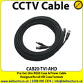 20M CCTV Cable Pre-Terminated with BNC Connector, Power & Video - CAB20-TVI-AHD