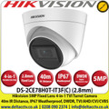 Hikvsion 5MP 2.8mm Fixed Lens 4-in-1 Turret Camera, Switchable TVI/AHD/CVI/CVBS, 40m IR Distance, IP67 Weatherproof, DWDR - DS-2CE78H0T-IT3F(C)