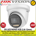 Hikvision 2MP 2.8-12mm Motorized Varifocal Lens ColorVu PoC HD-TVI TurretCamera, 40m White Light Distance, IP68 Weatherproof, 130dB WDR, Smart Light, 24/7 Full Color Imaging - DS-2CE79DF8T-AZE