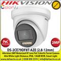 Hikvision 2Megapixel 2.8-12mm Motorized Varifocal Lens ColorVu PoC HD-TVI Turret Camera, 40m White Light Distance, IP68 Weatherproof, 130dB WDR, Smart Light, 24/7 Full Color Imaging -  DS-2CE79DF8T-AZE
