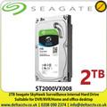 "2TB - Seagate SkyHawk Surveillance Hard Drive For CCTV DVR NVRS, Sata 6Gb/s,  3.5"",  Internal Hard Drive - ST2000VX008"