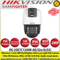 Hikvision  7-inch 2 MP 32X Powered by DarkFighter IR IP PoE Network Speed Dome Camera, 150m IR Distance, 24 VAC & Hi-PoE,  Audio Visual Alarm, WDR, HLC, BLC, 3D DNR, Defog, Regional Exposure, Regional Focus, Rapid Focus - DS-2SE7C124IW-AE(32x/4)(S5)