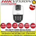 Hikvision  DS-2SE7C124IW-AE(32x/4)(S5) 7-inch 2 MP 32X Powered by DarkFighter IR IP PoE Network Speed Dome Camera, 150m IR Distance, 24 VAC & Hi-PoE,  Audio Visual Alarm, WDR, HLC, BLC, 3D DNR, Defog, Regional Exposure, Regional Focus, Rapid Focus