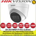 Hikvision 5MP Outdoor/Indoor Turret CCTV Camera, Switchable TVI/AHD/CVI/CVBS, 30m IR Distance, IP67 Weatherproof, Digital WDR - DS-2CE78H0T-IT1F (C)'