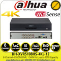 Dahua - 8 Channel Penta-brid 4K-N/5MP Compact 1U 1HDD WizSense Digital Video Recorder -  DH-XVR5108HS-4KL-I2