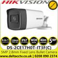 Hikvision 5MP Bullet Camera 2.8mm Fixed Lens TVI/AHD/CVI/CVBS - DS-2CE17H0T-IT3F(C)