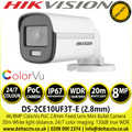 Hikvision DS-2CE10UF3T-E 4K ColorVu PoC Outdoor Fixed Lens Mini Bullet Camera
