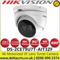Hikvision 4K Ultra Low Light 4 in 1 Motorized Varifocal Outdoor TVI Turret Camera with 60m IR Range - DS-2CE79U7T-AIT3ZF