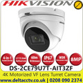 Hikvision - DS-2CE79U7T-AIT3ZF 8 MP camera Ultra Low Light 4 in 1 Motorized Varifocal Outdoor TVI Turret Camera with 60m IR Range