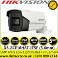 Hikvision DS-2CE16H8T-IT5F 5MP Ultra Low Light 3.6mm Fixed Lens 4-in-1 TVI/AHD/CVI/CVBS Outdoor Bullet Camera with 80m IR Range