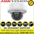 Hikvision DS-2CE5AH8T-AVPIT3ZF 5MP Ultra Low Light 2.7-13.5mm Vandal Motorized Varifocal 4-in-1  TVI/AHD/CVI/CVBS Outdoor Dome Camera with 60m IR Range