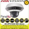 Hikvision 2MP 8mm Lens Single-Directional PanoVu Mini Camera with PTZ - DS-2PT3122IZ-DE3 (8mm)