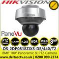 Hikvision DS-2DP0818ZIXS-DE/440/T2 8MP 180° Panoramic & PTZ Camera