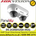 Hikvision DS-2CD6D52G0-IH(S) 5MP Dual-Directional PanoVu Camera with 10m IR Range, IP67, IK10 Protection
