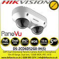 Hikvision 5MP Dual-Directional PanoVu Camera with Built-in microphon, 10m IR Range, IP67, IK10 Protection - DS-2CD6D52G0-IH(S)