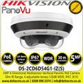 Hikvision 5MP Quad-Directional Varifocal PanoVu Outdoor Network PoE Camera with Built-in microphone, 30m IR Range - DS-2CD6D54G1-IZ(S)