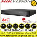 Hikvision 8 Channel 1080p 1U H.265 AcuSense AoC 8Ch DVR - iDS-7208HQHI-M1/FA