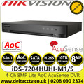 Hikvision iDS-7204HUHI-M1/S  4Channel 8MP Lite 1 HDD 1U H.265 AcuSense AoC HDTVI/AHD/CVI/CVBS/IP 4 Ch DVR