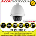 Hikvision DS-2AE4225T-D 2MP Analog Speed Dome Camera with TVI/AHD/CVI/CVBS - 25 x Zoom - Darkfighter - IP66 - WDR - 3DNR