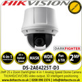 Hikvision 2MP Analog Speed Dome Camera Darkfighter 4-in-1 TVI/AHD/CVI/CVBS  25× optical zoom, 16× digital zoom - DS-2AE4225T-D3